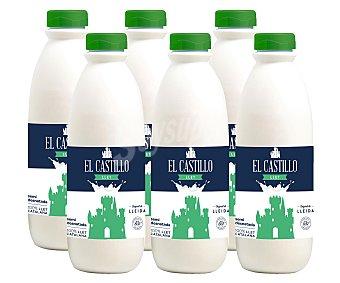 El Castillo Leche semidesnatada botella de 1,5 litros pack de 6