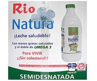 RÍO Natura Leche semidesnatada 6 Unidades de 1 Litro