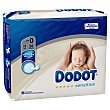 Pañal recién nacido T0 (1.5 a 2.5 kg) Paquete 24 u Dodot Sensitive