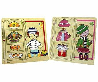 PRODUCTO ECONÓMICO ALCAMPO Puzzle de Madera Viste a tus Muñecas 1 Unidad
