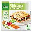 Lasaña congelada de verduras (2 raciones) Pack 2 bandejas x 290 g Hacendado