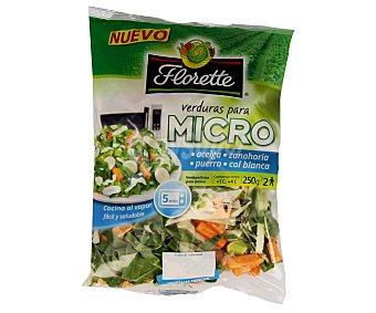 Florette Surtido acelga, zanahoria, puerro y col blanca para micro Bolsa de 250 g