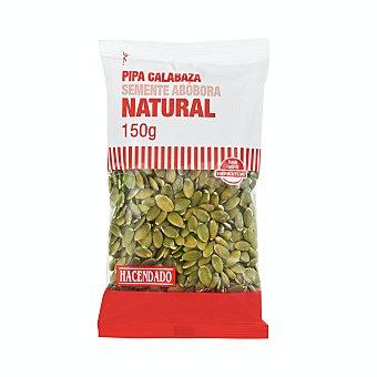 Hacendado Pipas calabaza mondadas naturales Paquete de 150 g