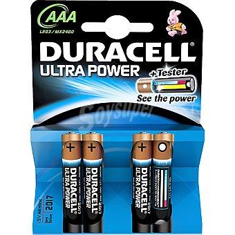 DURACELL ULTRA Pila modelo m3 alcalina AAA 4 - 1,5 voltios blister 4 unidades 4 unidades