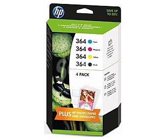 HP Cartuchos de Tinta, Pack 4 Colores Pack 4