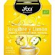 Infusión de jengibre, cáscara de limón y manzana ecológica estuche 12 bolsitas estuche 12 bolsitas Yogi Tea