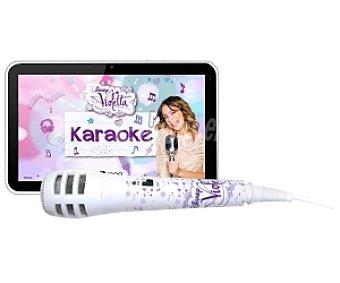 Ingo violetta Tablets con Pantalla de 7'' INU019D Función Karaoke con Video para Cantar y Verte Mientras cantas.graba tus actuaciones,incluye Un Exclusivo Micrófono de Violetta y App Precargada con Karaoke, Procesador: 1.2GHz, Almacenamiento: 4GB Ampliable con microsd, Cámara Frontal y Trasera, Android 4.1,