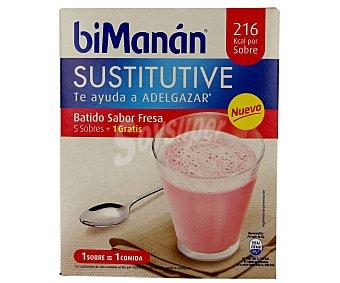Bimanan Batido sustitutivo sabor fresa 5 ud