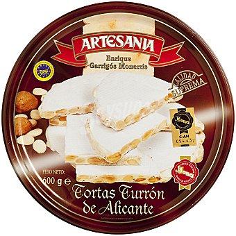 ENRIQUE GARRIGOS MONERRIS tortas de turrón de Alicante Calidad Suprema lata 600 g 3 unidades