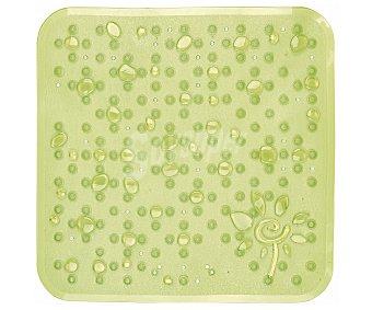 TOYMA Alfombra antideslizante para ducha modelo Gotas, color verde traslúcido, 53x53 centímetros 1 Unidad