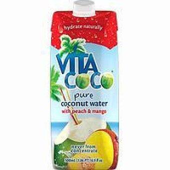 VITACOCO Agua de coco-mango-melocotón Brik 33 cl