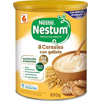 Nestum Nestlé Papilla 8 cereales con galleta Bote 650 g