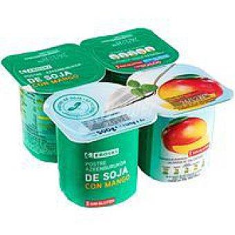 Eroski Postre de soja con mango Pack 4x125 g