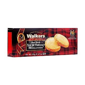 Walkers Shortbread Highlanders galletas de mantequilla Estuche 135 g