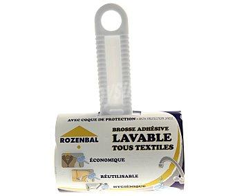 Rozenbal Rodillo quitapelusas adhesivo lavable con cubierta protectora 1 unidad
