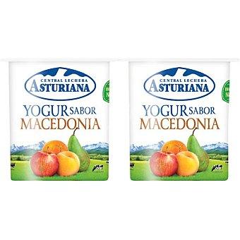 Central Lechera Asturiana Yogur sabor macedonia pack 4 unds. 125 g Pack 4 unds. 125 g