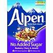 Muesli sin azúcar blueberry-cherry-almond Caja 560 g Alpen