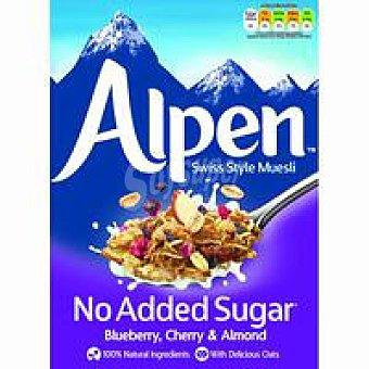 Alpen Muesli sin azúcar blueberry-cherry-almond Caja 560 g