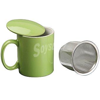 QUO Desayuno Taza de infusión con filtro en color verde 350 ml