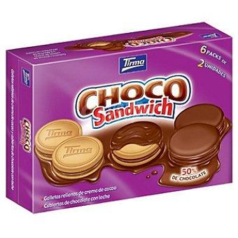 Tirma Sándwich de galletas rellenas de chocolate y recubiertas de chocolate Paquete 272 g