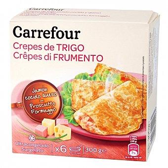 Carrefour Crepes jamón y queso Pack de 6 unidades de 50 g
