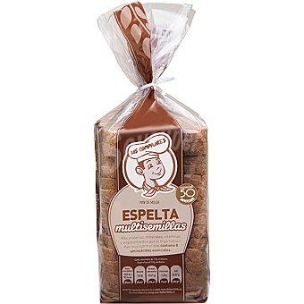 Panadería Los Compadres pan de molde integral con espelta y multisemillas paquete 500 g