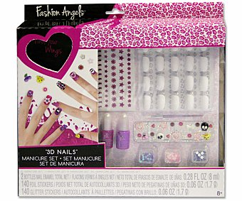 CIFE Set de Manicura Fashion Angels Uñas 3D 1 Unidad