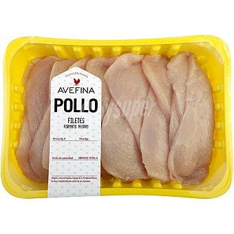 AVEFINA Filetes de Pechuga de Pollo - Formato Ahorro - Peso Aproximado Bandeja 1,1 kg