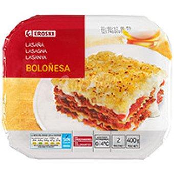 Eroski Canelones a la boloñesa Bandeja 400 g
