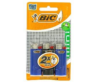 Bic Encendedor Mini J25 Liso 3u