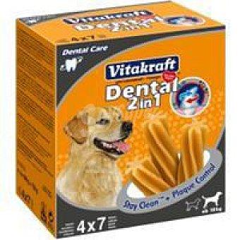 Vitakraft Pack mensual snack dental 2en1 perros medianos 28 unidades