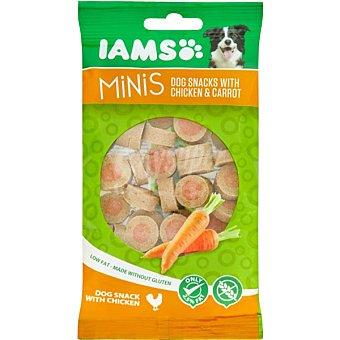IAMS Snacks para perros adultos Minis pollo y zanahoria 100 gr