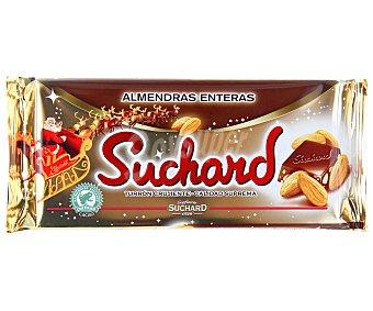 Suchard Turrón de chocolate con almendras enteras 260 gramos