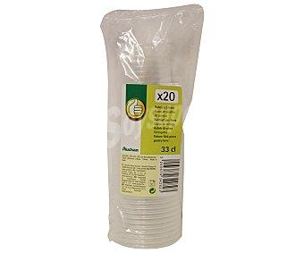 Productos Económicos Alcampo Pack de 20 vasos transparentes, 33 centilitros 20 unidades