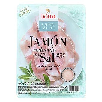 La Selva Vita jamón cocido extra reducido en sal en lonchas sin gluten sin lactosa Envase 100 g