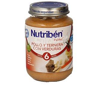 Nutribén Potito de pollo-ternera-verdura 200 g