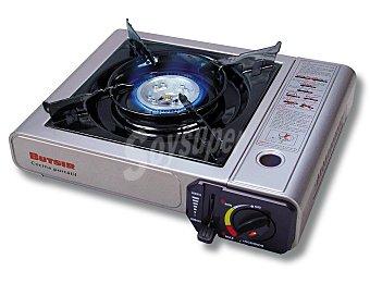 BUTSIR Cocina portatil modelo MS1000 con encendido piezo-eléctrico y parrilla esmaltada de fácil limpieza 1 unidad