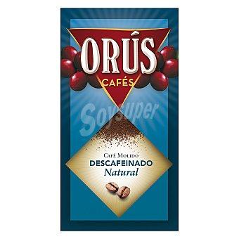 Orus Café descafeinado natural molido paquete 250 g paquete 250 g