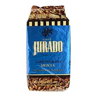 Jurado Café en grano mezcla 75%+25% 1 Kg