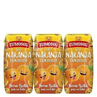 Zumosol Zumo de naranja Pack de 3 briks de 20 cl