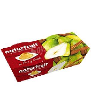 Naturfruit Flan Pera y Canela pack de 2x100 g