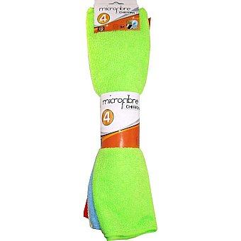 Industex Bayeta microfibra varios colores paquete 4 unidades