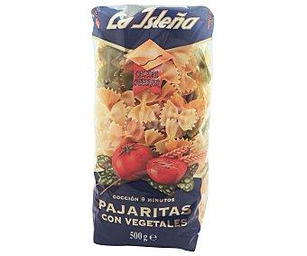 La Isleña Pajaritas, pasta de sémola de trigo duro de calidad superior a las espinacas, tomate, remolacha y cúrcuma 500 Gramos