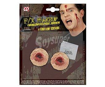 WIDMANN Set de 2 heridas de bala, Halloween 2u