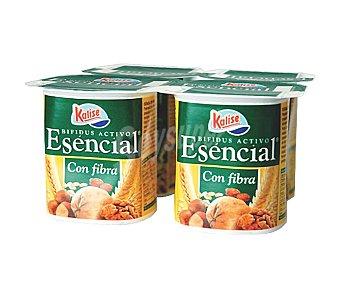 Kalise Yogur Esencial con fibra Pack de 4x125 g