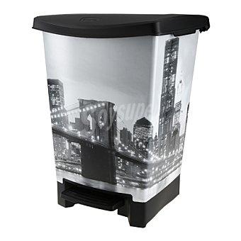 Curver Cubo de basura de Plástico 25 Litros - Decorado Paris 25 Litros