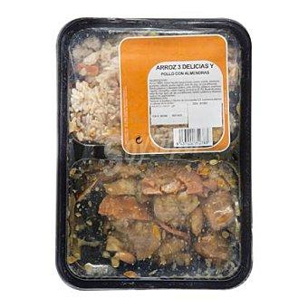 Delicias Menú Arroz 3 + pollo almendras Envase de 1 ud