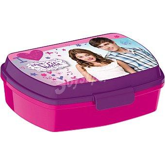 Disney Sandwichera con diseño Violetta en color rosa