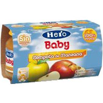 Hero Tarrito de compota de manzana Pack 2x130 g