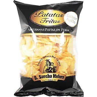 DON SANCHO MELERO patatas fritas artesanas en perol sabor ajillo  bolsa 160 g